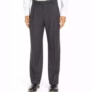 Sergio Cipriani Grey Wool Pleated Cashmere Pants